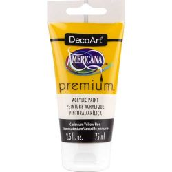 DecoArt Americana - Premium Acrylic Paint - 2.5floz (75ml) Tube - Cadmium Yellow Hue